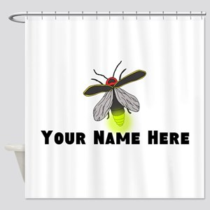 Lightning Bug Fun Shower Curtain