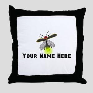 Lightning Bug Fun Throw Pillow