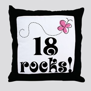 18th Birthday Butterfly Throw Pillow