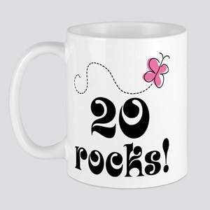 20th Birthday Butterfly Mug