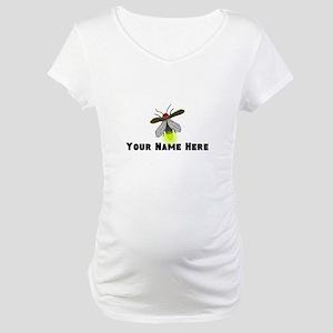 Lightning Bug Fun Maternity T-Shirt