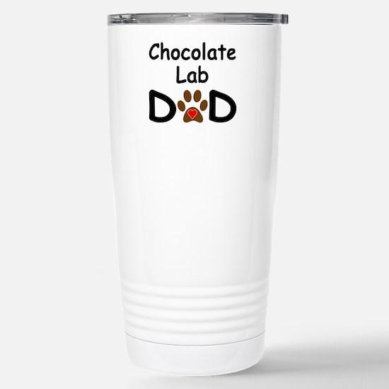 Cute Lab dad Travel Mug
