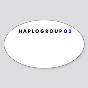 Haplogroup O3 Oval Sticker