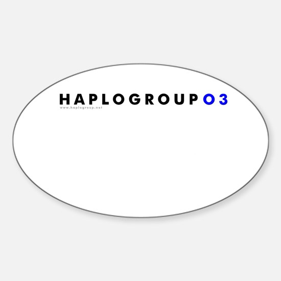 Haplogroup O3 Oval Decal