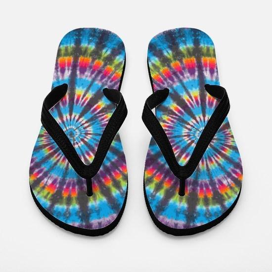 Rainbow Swirl Flip Flops