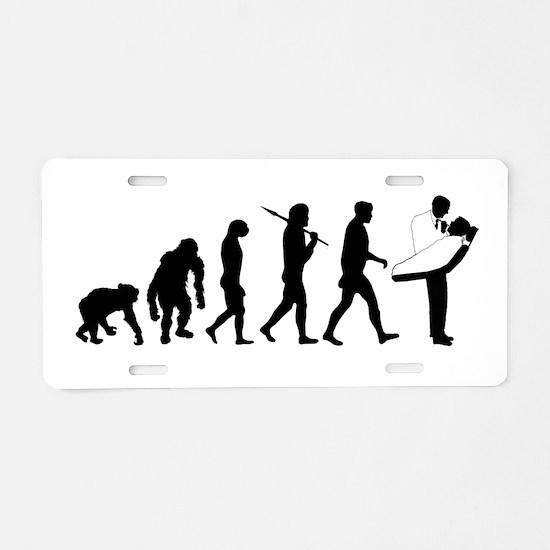 Dentist Evolution Aluminum License Plate
