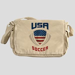 Soccer Crest USA blue Messenger Bag