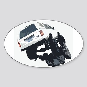 4x4JV Oval Sticker