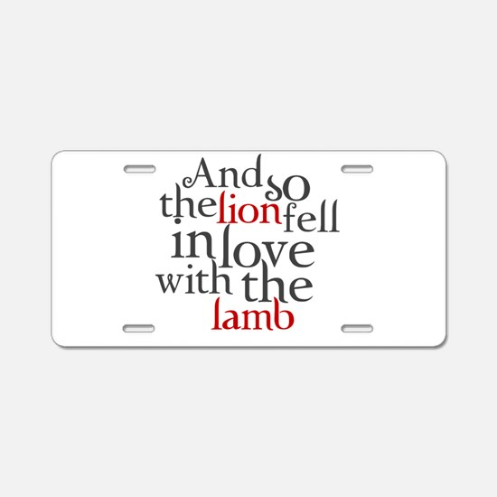 Lion fell in love with the lamb Aluminum License P