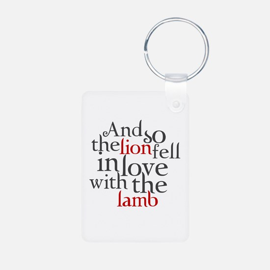 Lion fell in love with the lamb Keychains