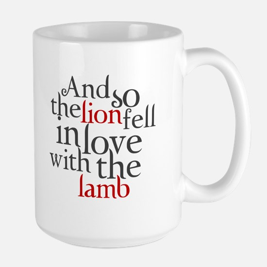 Lion fell in love with the lamb Large Mug