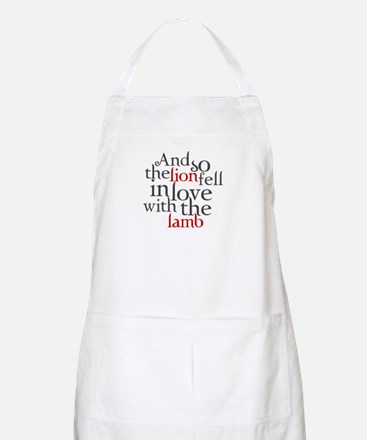 Lion fell in love with the lamb Apron