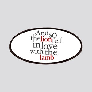 Lion fell in love with the lamb Patches