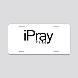 iPray Aluminum License Plate