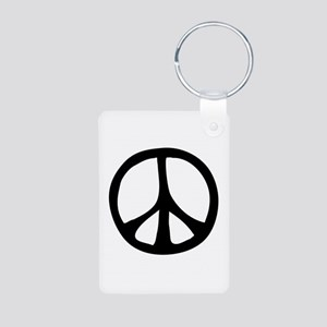 Flowing Peace Sign Aluminum Photo Keychain