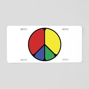 Elegant Peace Color Aluminum License Plate