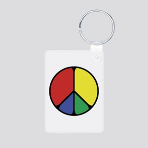 Elegant Peace Color Aluminum Photo Keychain