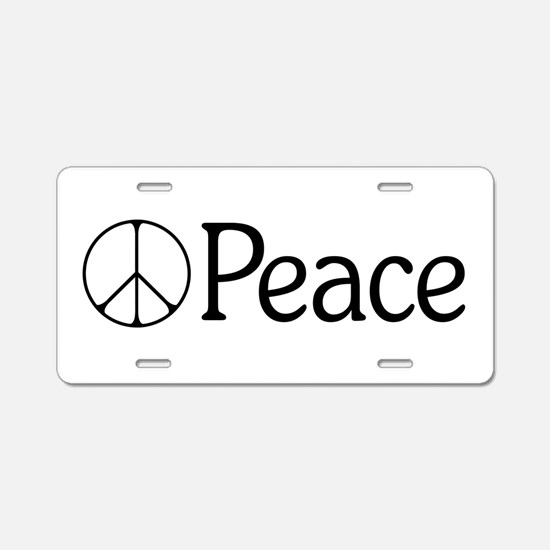 Elegant 'Peace' Sign Aluminum License Plate