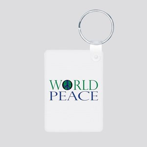 World Peace Aluminum Photo Keychain