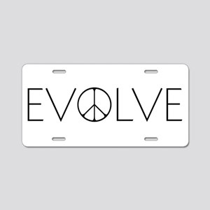 Evolve Peace Narrow Aluminum License Plate
