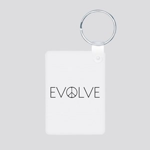 Evolve Peace Narrow Aluminum Photo Keychain