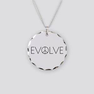 Evolve Peace Narrow Necklace Circle Charm