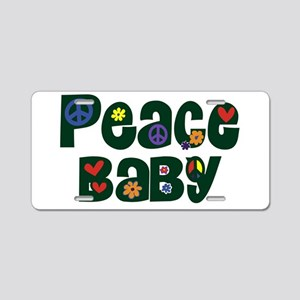 Peace Baby Aluminum License Plate