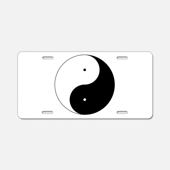 Daoism Yin & Yang Aluminum License Plate