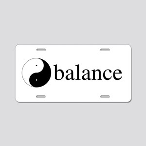 Daoist Balance Aluminum License Plate