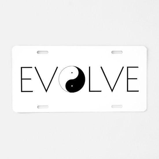 Evolve Balance Aluminum License Plate