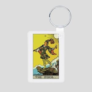 The Fool Tarot Card Aluminum Photo Keychain