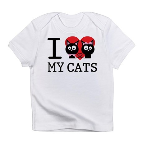 I love my cats Infant T-Shirt