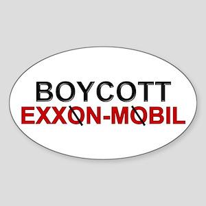 """Boycott Exxon Mobile"" Oval Sticker"