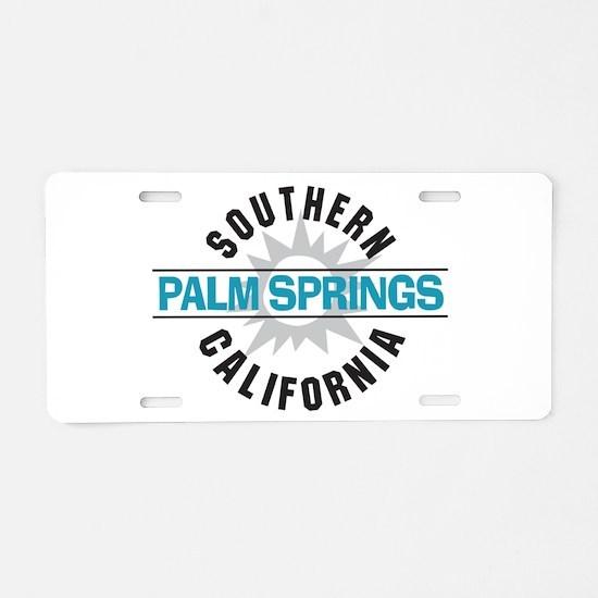 Palm Springs California Aluminum License Plate