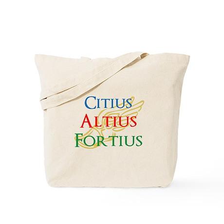 Citius Altius Fortius Tote Bag