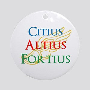 Citius Altius Fortius Ornament (Round)