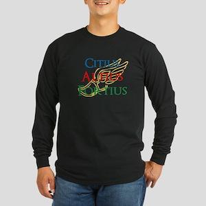 Citius Altius Fortius Long Sleeve Dark T-Shirt