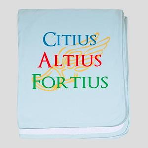 Citius Altius Fortius baby blanket