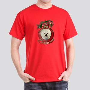 Christmas - Deck the Halls - Bichons Dark T-Shirt