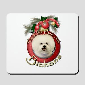 Christmas - Deck the Halls - Bichons Mousepad