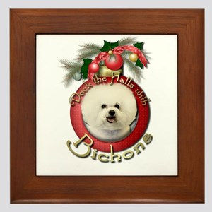 Christmas - Deck the Halls - Bichons Framed Tile