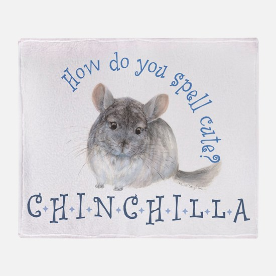 cute chinchilla Throw Blanket