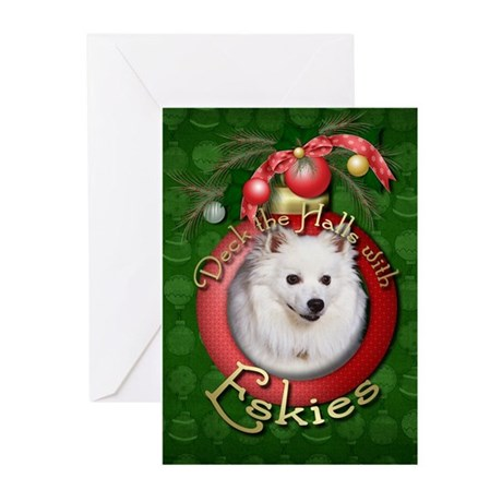 Christmas - Deck the Halls - Eskies Greeting Cards