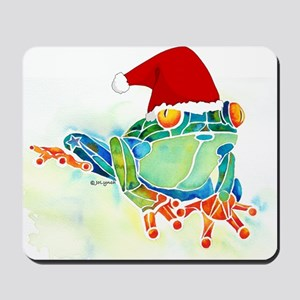 Christmas Holiday Tree Frog Mousepad