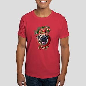 Christmas - Deck the Halls - Pugs Dark T-Shirt