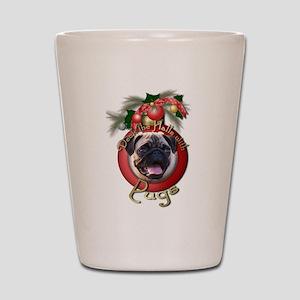 Christmas - Deck the Halls - Pugs Shot Glass