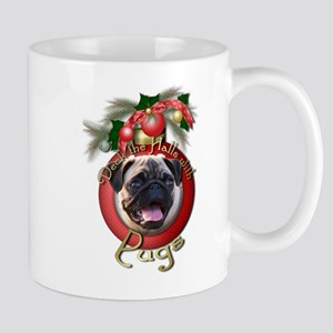Christmas - Deck the Halls - Pugs Mug