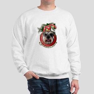 Christmas - Deck the Halls - Schnauzers Sweatshirt