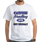 Catfish Noodling White T-Shirt