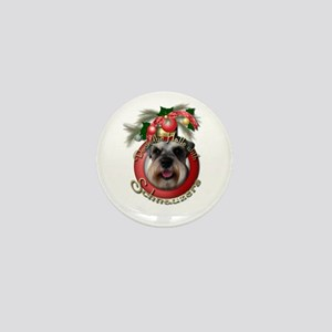 Christmas - Deck the Halls - Schnauzers Mini Butto